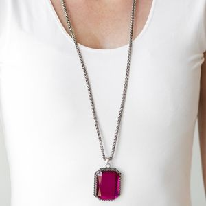 Let Your HEIR Down Pink Necklace